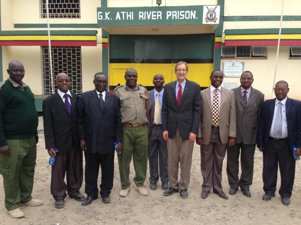 Bible distribution to a prison in Kenya