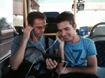 David witnessing to Muslim on bus in Sanliurfa
