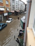 View from our building when flood was at its peak